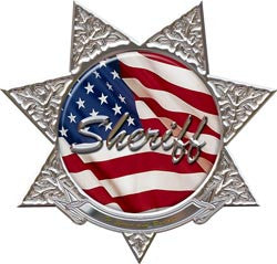 7 Point Star Sheriff Police Decal