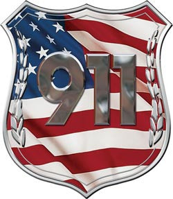 911 Police Decal