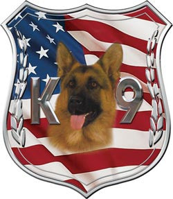K9 Polce Dog Decal with Shepherd