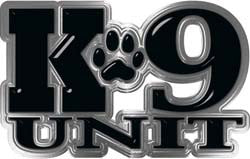 Reflective K9 Unit with Dog Paw Law Enforcement Decal in Black
