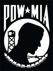 POW MIA Flag Decal
