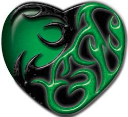 Tribal Heart in Green