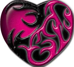 Tribal Heart in Pink