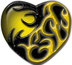 Tribal Heart in Yellow