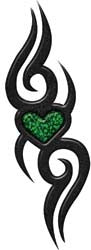 Tribal Design with Heart in Green