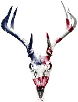 Deer Skull Graphic With American Flag
