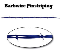 Blue Barbwire Pinstripe Decal