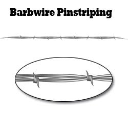 Gray Barbwire Pinstripe Decal