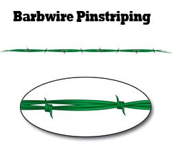 Green Barbwire Pinstripe Decal