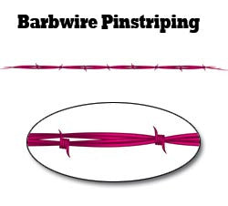 Pink Barbwire Pinstripe Decal