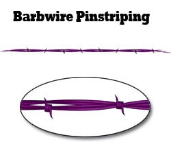 Purple Barbwire Pinstripe Decal