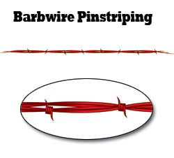 Red Barbwire Pinstripe Decal