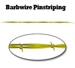 Yellow Barbwire Pinstripe Decal