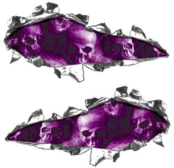 Ripped Design with Purple Skulls
