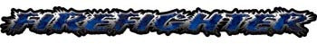 Firefighter Tailgate / Windshield Decal with Inferno Blue Flames
