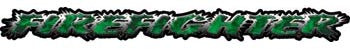 Firefighter Tailgate / Windshield Decal with Inferno Green Flames