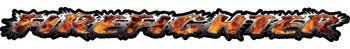 Firefighter Tailgate / Windshield Decal with Inferno Flames