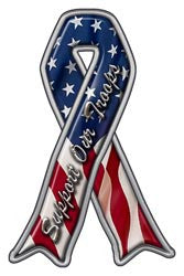 Support Our Troops Ribon Decal