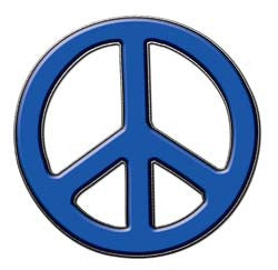 Peace Decal in Blue