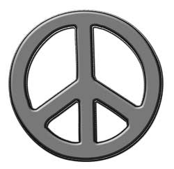 Peace Decal in Gray
