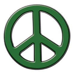 Peace Decal in Dark Green