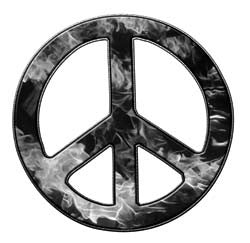 Peace Decal in Inferno Gray