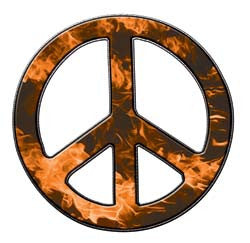 Peace Decal in Inferno Orange