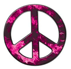 Peace Decal in Inferno Pink