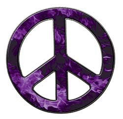 Peace Decal in Inferno Purple