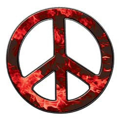 Peace Decal in Inferno Red
