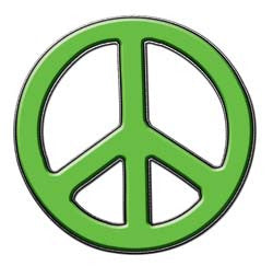 Peace Decal in Light Green