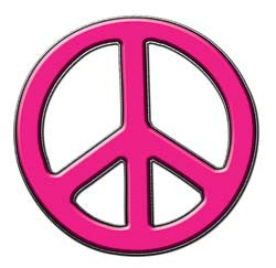 Peace Decal in Pink