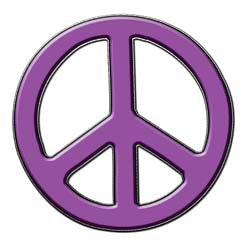 Peace Decal in Purple