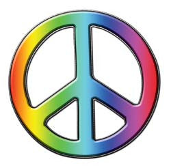 Peace Decal in Rainbow