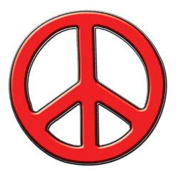 Peace Decal in Red