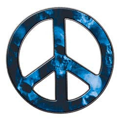 Peace Decal in Skull Blue