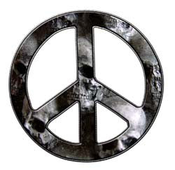 Peace Decal in Skull Gray