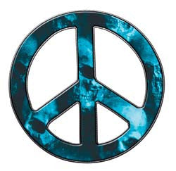 Peace Decal in Skull Light Blue