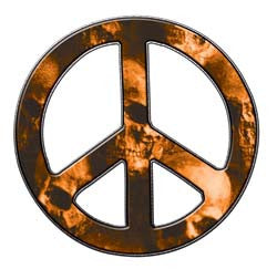 Peace Decal in Skull Orange