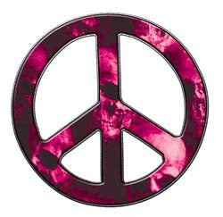 Peace Decal in Skull Pink