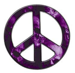 Peace Decal in Skull Purple