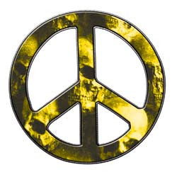 Peace Decal in Skull Yellow
