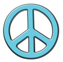 Peace Decal in Light Blue