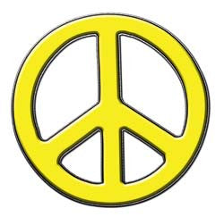 Peace Decal in Yellow