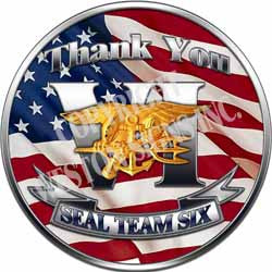 Navy Seals Team Six Thank You Decal