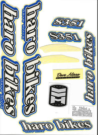 Haro Dave Mirra S351 Sticker/Decal Frame Kit Set
