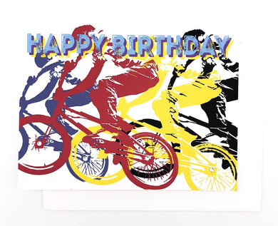 Happy Birthday BMX Racer- GREETING CARD