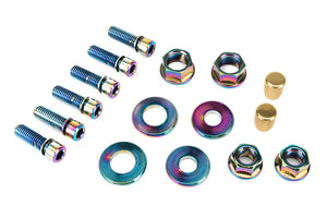 SALT NUT & BOLT HARDWARE PACK Purple, Blue, Red, Gold or Oil Slick
