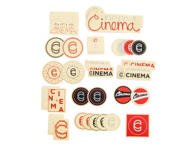 Cinema Sticker Set / 37 Piece