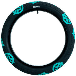 "FEDERAL COMMAND LOWPRESSURE TIRE 2.4"" BLK/TEAL"
